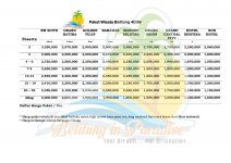 Price list Pakettourbelitung 4D3N